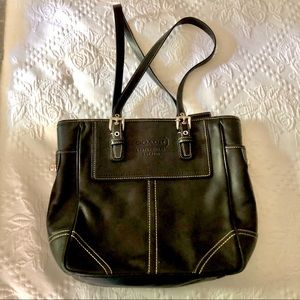 Coach Legacy Classic Handbag Black